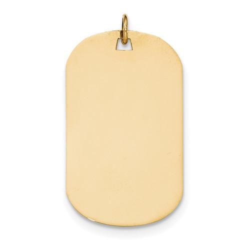 0.035 Gauge Engravable Dog Tag Disc Charm 14k Gold Plain XM559/35