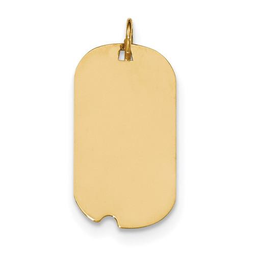0.013 Gauge Engravable Dog Tag with Notch Disc Charm 14k Gold Plain XM560/13