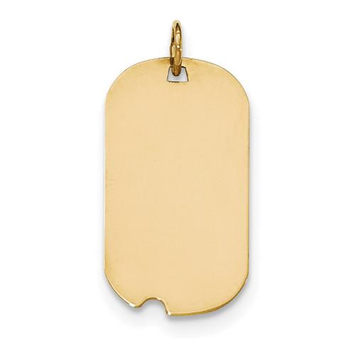 0.027 Gauge Engravable Dog Tag with Notch Disc Charm 14k Gold Plain XM561/27