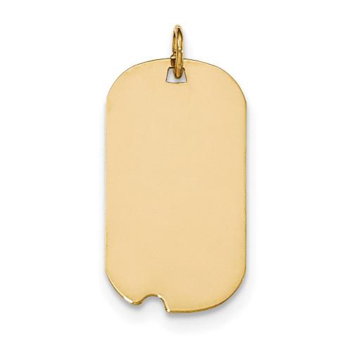 0.018 Gauge Engravable Dog Tag with Notch Disc Charm 14k Gold Plain XM562/18