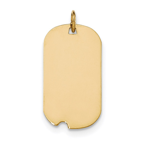0.027 Gauge Engravable Dog Tag with Notch Disc Charm 14k Gold Plain XM562/27