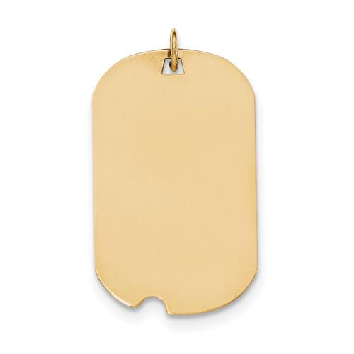 0.027 Gauge Engravable Dog Tag with Notch Disc Charm 14k Gold Plain XM564/27