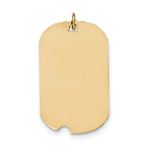 0.035 Gauge Engravable Dog Tag with Notch Disc Charm 14k Gold Plain XM564/35