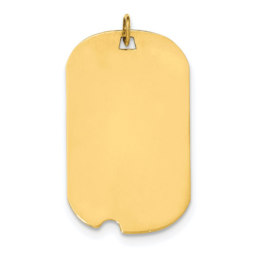 0.011 Gauge Engravable Dog Tag with Notch Disc Charm 14k Gold Plain XM572/11