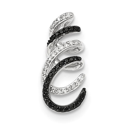 Black and White Diamond Chain Slide 14k white Gold XP4690AA