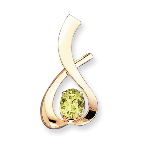 10x8mm Oval Peridot slide 14k Gold XS171PE