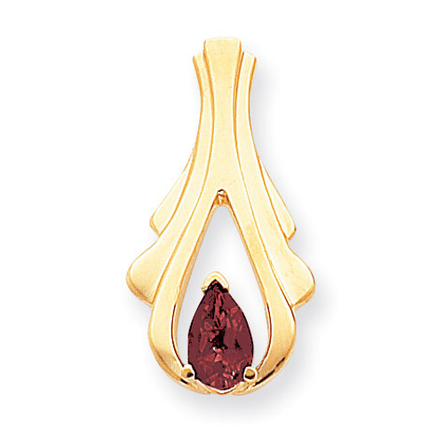 8x5mm Pear Garnet slide 14k Gold XS390GA