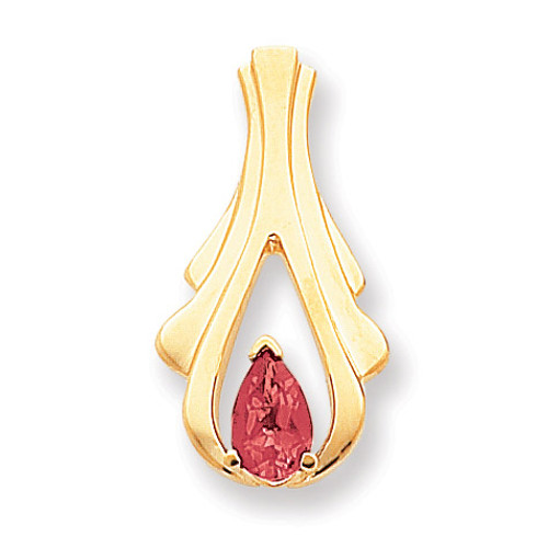 8x5mm Pear Ruby slide 14k Gold XS390R