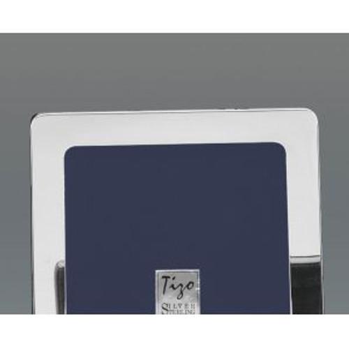 Tizo Plain 4 x 6 Inch Sterling Silver Picture Frame