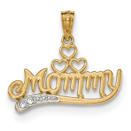 .02 Diamond Mommy pendant 14k Gold Polished YC1222