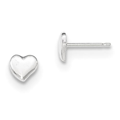 Heart Post Earrings 14k White Gold Polished MPN: YE1734 UPC: 191101367373