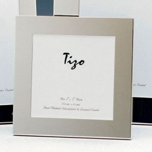 Tizo Thick Simple 5 x 7 Inch Silver Plated Picture Frame