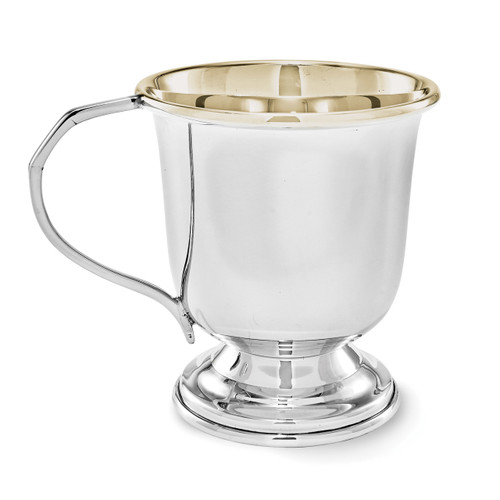 Gold Lined Baby Cup Sterling Silver GL4928