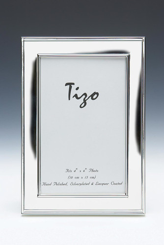 Tizo Perfect Edge 8 x 10 Inch Silver Plated Picture Frame