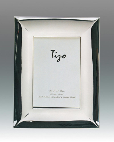 Tizo Classic Wide 5 x 7 Inch Silver Plated Picture Frame