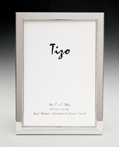 Tizo Inner Bead 8 x 10 Inch Silver Plated Picture Frame