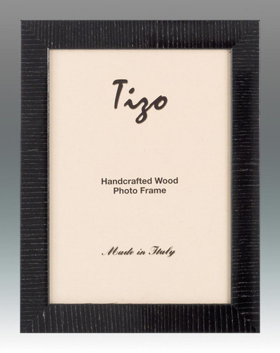Tizo Lines 5 x 7 Inch Wood Picture Frame - Black