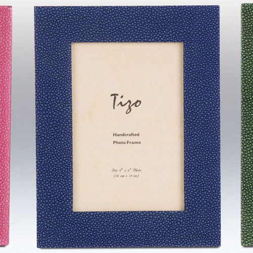 Tizo Dots 4 x 6 Inch Wood Picture Frame - Blue