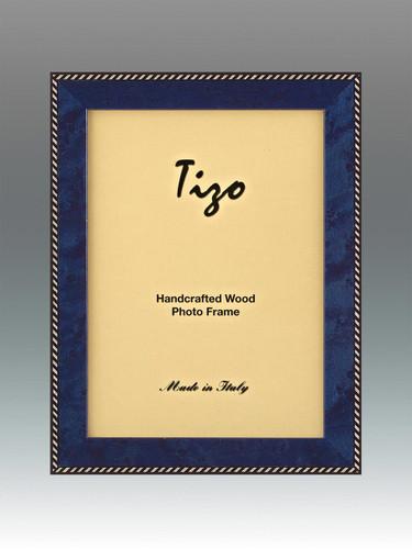 Tizo Zebra 5 x 7 Inch Wood Picture Frame - Blue