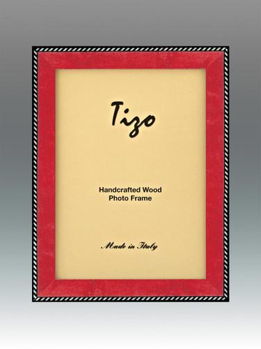 Tizo Zebra 8 x 10 Inch Wood Picture Frame - Red
