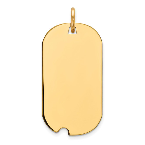 Engravable Dog Tag Polished Disc Charm Sterling Silver Gold-plated QM442G/35