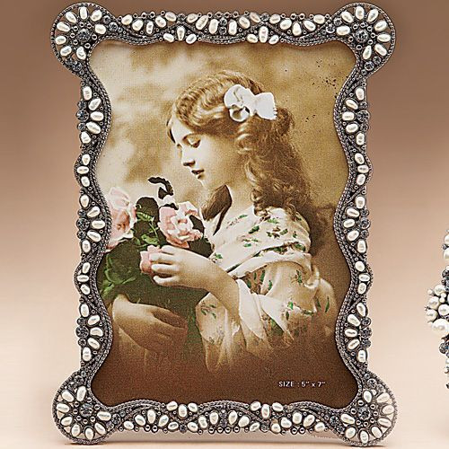 Tizo Enamel Jeweled Picture Frame 5 x 7 Inch RS60957