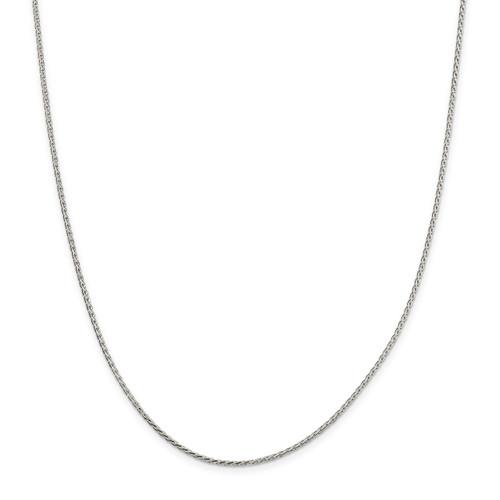 24 Inch 1.70mm Diamond-cut Round Spiga Chain Sterling Silver QSR050-24
