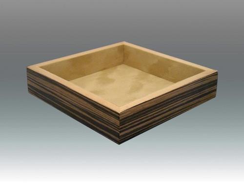 Tizo 7 x 7 Inch Square Wooden Valet Tray - Ebony