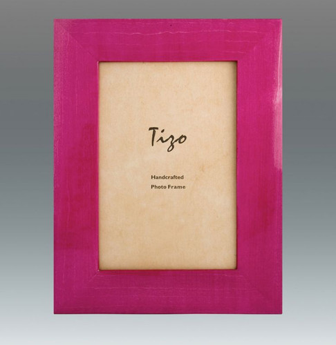 Tizo Antique Colors 5 x 7 Inch Wood Picture Frame - Pink
