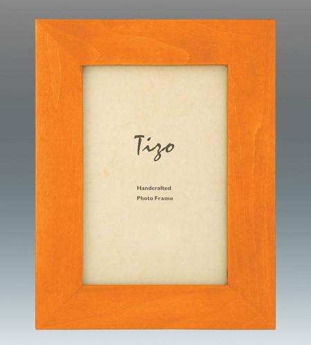 Tizo Antique Colors 5 x 7 Inch Wood Picture Frame - Orange