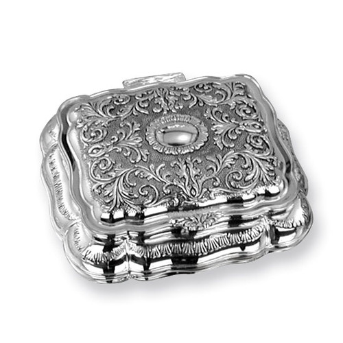 Antiqued Silver-plated Rectangular Jewelry Box GL1593
