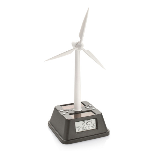 Solar Powered Wind Turbine Alarm Clock GM13869