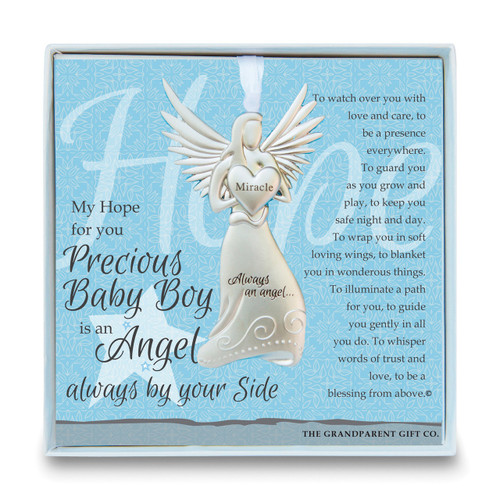 Baby Boy Angel Ornament with Sentiment GM14278