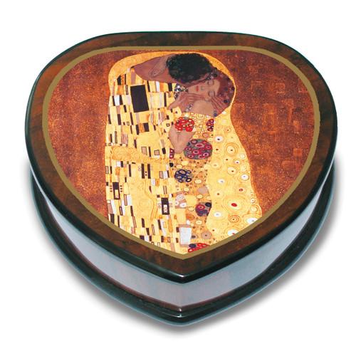 Artist Klimt Heart Shaped The Kiss Music Box GM15099