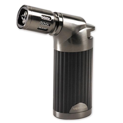 Vertigo Champ Black Matte and Gunmetal Quad Flame Table Torch Lighter GM15354