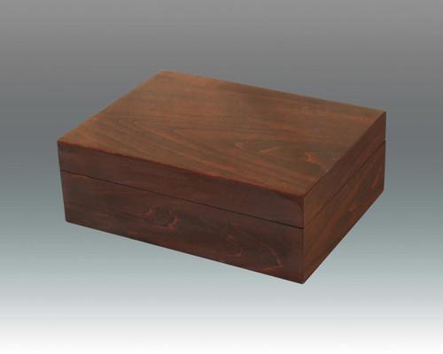 Tizo Wooden Box 8 x 6 x 3 Inch NC13BRNBX - Brown