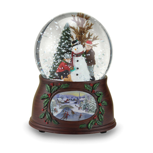 Glitterdome Musical Snowman with Kids GM15743