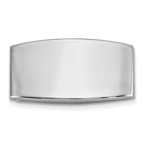 Domed Money Clip Silver-tone GM16801