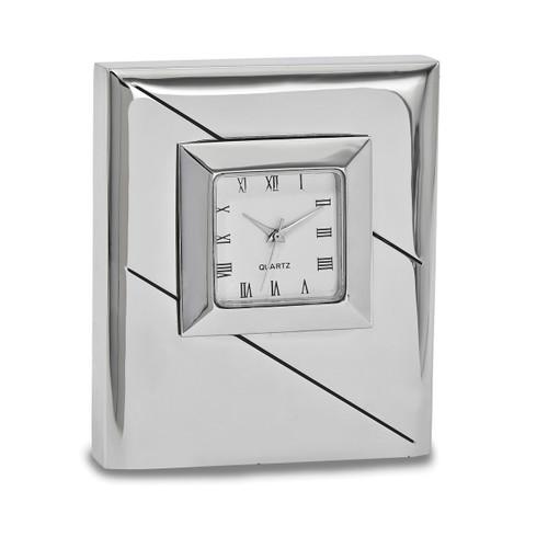 Square Desk Clock Silver-tone GM16884