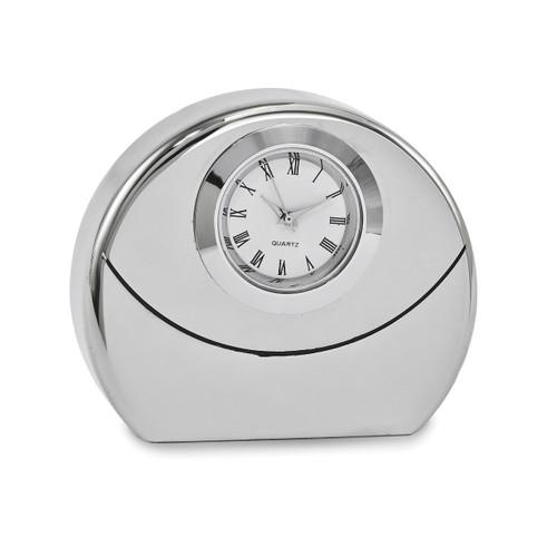 Round Desk Clock Silver-tone GM16885