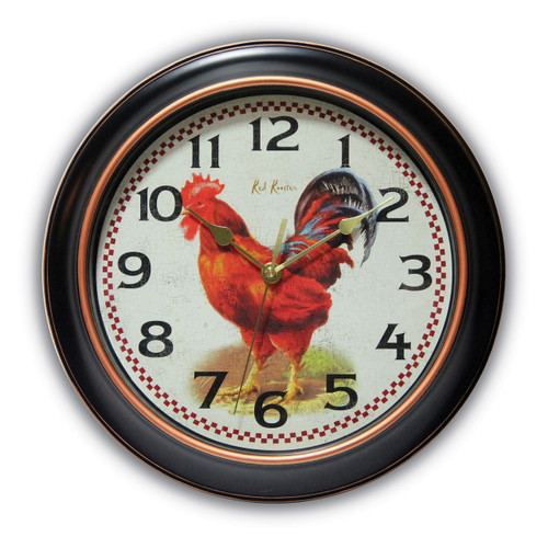 Rotterdam Rooster Dial Wall Clock with Silent Movement GM17586