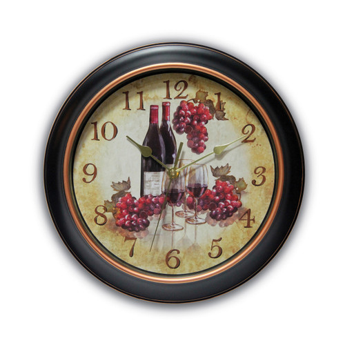 Valencia Wine & Grape Dial Wall Clock with Silent Movement GM17587