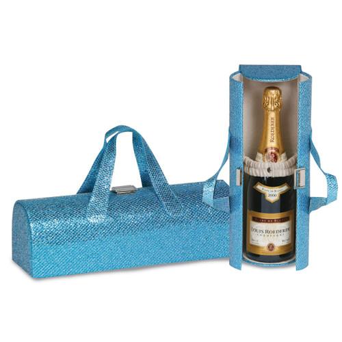 Glitter Turquoise Carlotta Wine Clutch GM17827