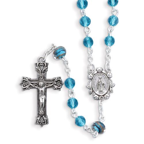 Aqua Color Bead Rosary GM17990