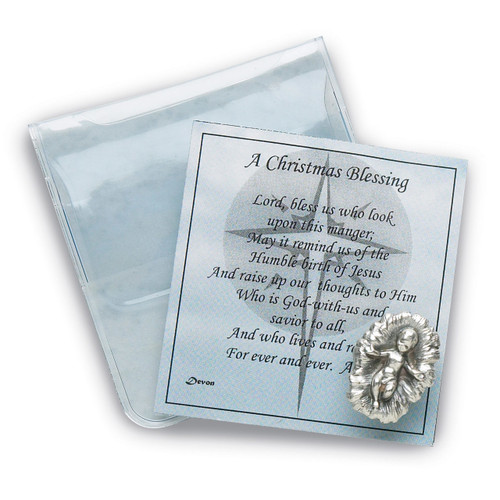 A Christmas Blessing Card with Baby Jesus GM18005