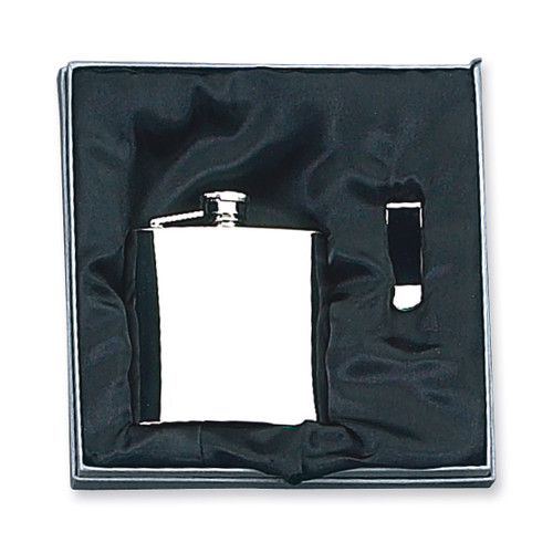 8 oz. Stainless Steel Flask & Money Clip Gift Set GM2715