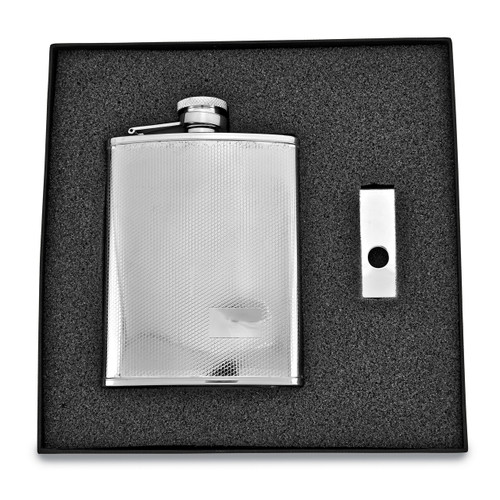 6 oz. Stainless Steel Flask & Money Clip Gift Set GM2723