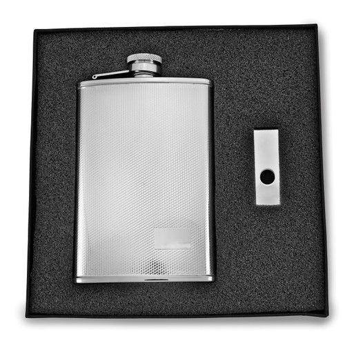 8 oz. Stainless Steel Flask & Money Clip Gift Set GM2724
