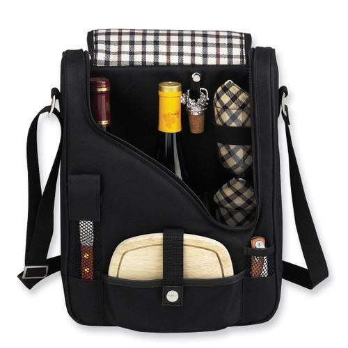 London Pinot Insulated Two Bottle Wine & Cheese Cooler GM7408