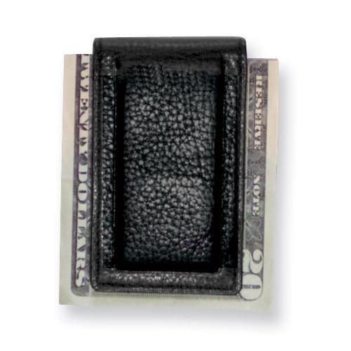 Black Leather Magnetic Money Clip GP5833